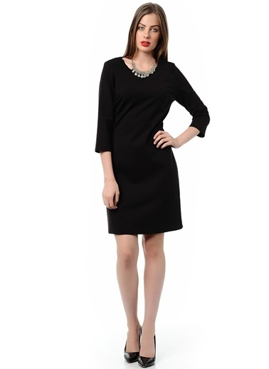 Cotton Bar Elbise Siyah